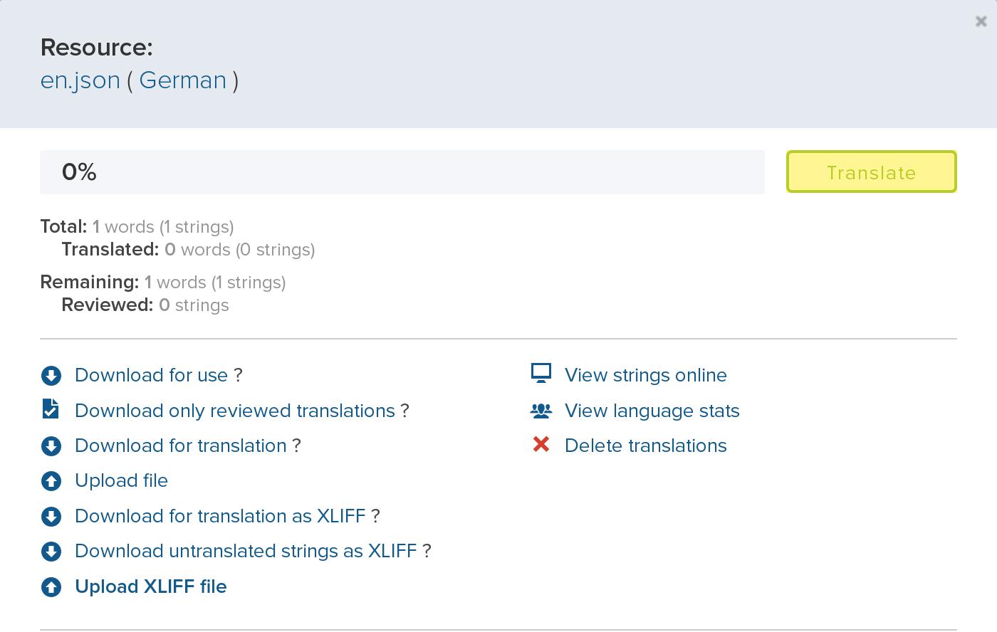 Translation popup