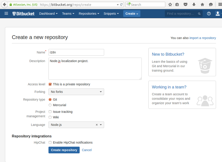 How To Make A New Repository in BitBucket