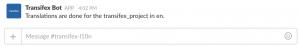 transifex slack integration