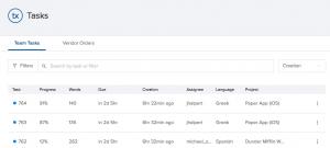 translation task management