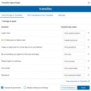 Transifex Figma plugin