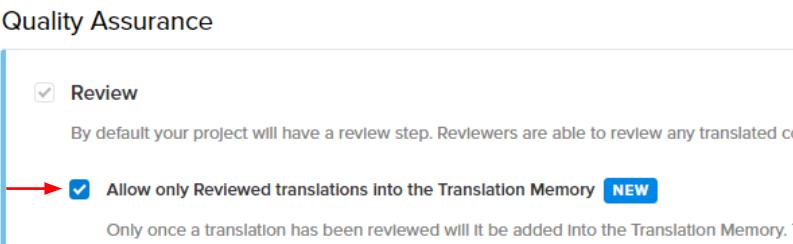 Translation memory quality tool