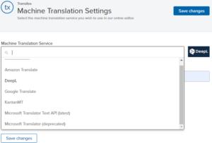 Transifex Machine Translation Tools