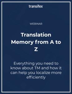 Translation Memory webinar