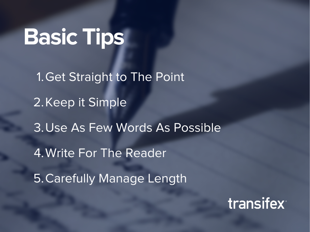 Professional writing tips